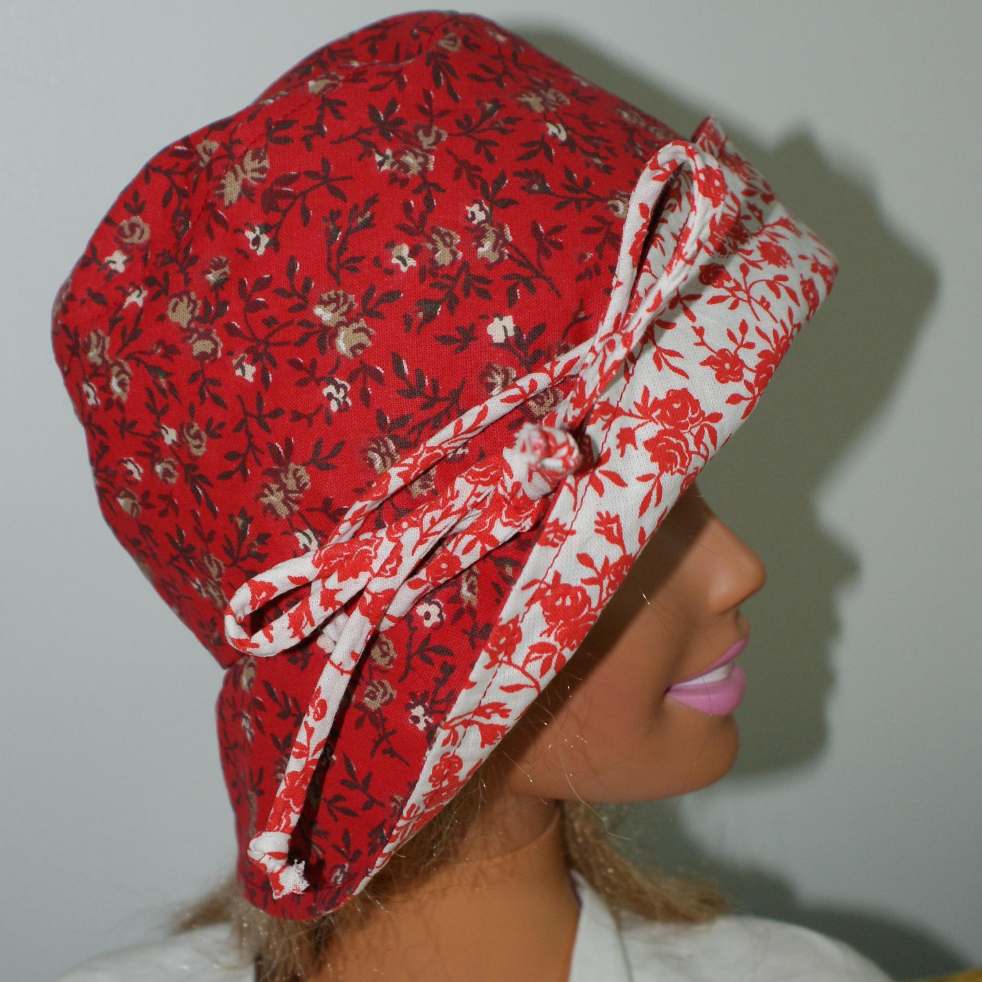 Chapeau en coton réversible