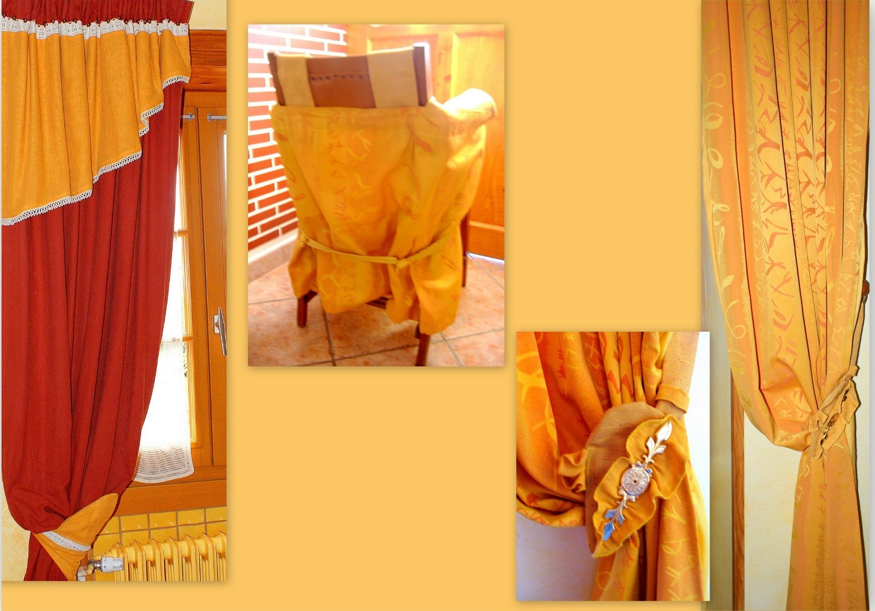 Ambiance jaune / orangée.